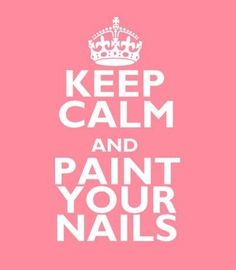 Seriously...every time I get a mani or give myself one, I become calm!