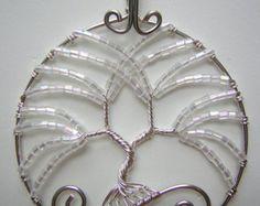 Invernale dell'albero della vita filo avvolto ciondolo