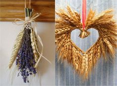 An autumn bouquet does not always have to be just flowers. Wheat and other cereals are also perfect for bouquets Plant Art, Plant Decor, Corn Dolly, Card Weaving, Deco Nature, Decoration Plante, Basket Crafts, Fall Decor, Holiday Decor
