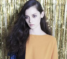 Model Katherine Rodriguez for R+Co Hair. Hair styled by Howard McLaren.