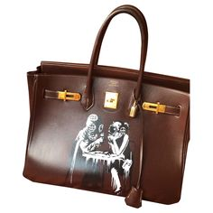 Sacs à main Hermès Hermès birkin Cuir Chataigne ref.185174 - Joli Closet
