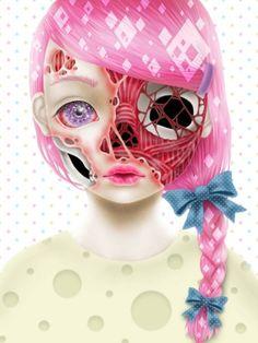 pastel creepy doll - Buscar con Google