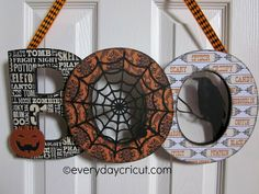Home Decor Boo Sign from Everyday Cricut using Chip Decor, Chic and Scary and Teresa Collins Paper