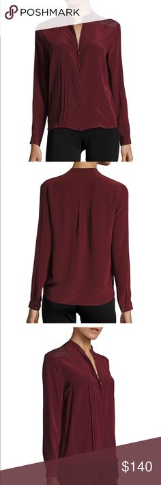 Brand new Sandro Silk blouse Gorgeous burgundy silk blouse. Never worn. A must during this fall season. Selling only because I left my corporate job for a now and wear more casual style. Sandro Tops Blouses