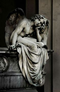 ☫ Angelic ☫ winged cemetery angels and zen statuary - Cemetery Angels, Cemetery Statues, Cemetery Art, Angels Among Us, Angels And Demons, Statue Ange, Statue Tattoo, Ange Demon, Art Sculpture