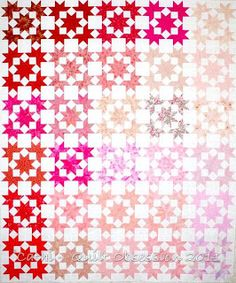 Cathi of Quilt Obsession recently completed her Pink Ice top, made using shapes from the Free Collection.