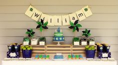 More 1st Birthday party ideas...love this color scheme.