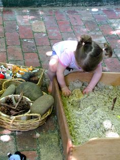 Fun use/way to create smaller, contained sandboxes - using old drawers.