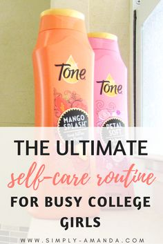 Super excited to be teaming up with @ToneSkincare to bring you the ultimate self-care routine for busy college girls! Click here to read my top tips for taking care of yourself in college with my fav new body wash! #HowITone #FindYourTone [ad]