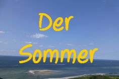 Learn German video - Der Sommer = Summer
