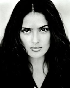 Salma Hayek by sarhda Selma Hayek, Beautiful People, Most Beautiful, Beautiful Women, Divas, Salma Hayek Photos, Portraits, Jolie Photo, Black And White
