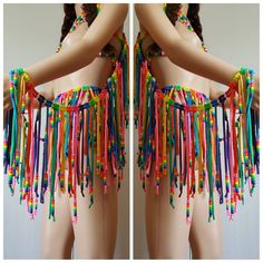 Find out other great ideas about Praise attire, Raver girl and Fest outfits. Rave Wings, Rave Accessories, Rave Makeup, Pride Outfit, Rainbow Outfit, Rave Festival, Festival Outfits, Diy Festival Clothes, Festival Clothing