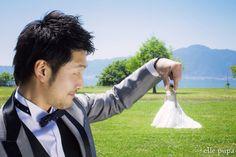 青空広がる*琵琶湖湖畔での前撮り   *elle pupa blog*