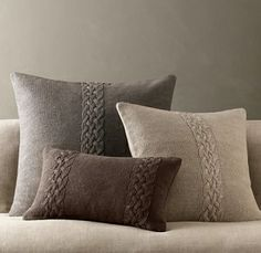 knit pillows by pamela