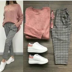 Combine and combine combi outfits - Just Trendy Girls: - Clothes - . - Combine and combine combi outfits – Just Trendy Girls: – clothes – # … - Casual Hijab Outfit, Casual Outfits, Hijab Fashion Casual, Modern Outfits, Simple Outfits, Grey Pants Outfit, Fall Outfits, Fashion Outfits, Fashion Women