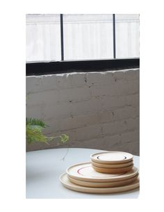 Wooden Plates   Wind and Willow Home