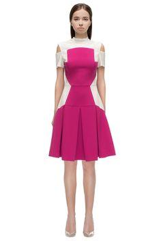 Hot Pink Cold-Shoulder Dress