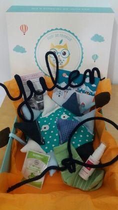 Box bébé Pom' de Reinette & Cie * Anti GlaGla * Février * Coffret cadeau personnalisé Yulen* Bleu * www.pomdereinette.fr