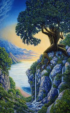 """When you plant a tree every leaf that grows will tell you, what you sow will bear fruit. So if you have any sense my friend, don't plant anything but love"" ~ Rumi ♥ ♥ Artwork ~ Arboreal Affection by Mark Henson"