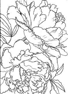 шаблон цветка пиона из шелка - Поиск в Google
