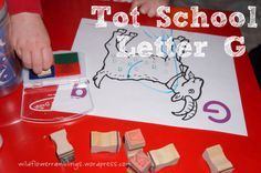 Tot School Printables Letter G is for Goat from Wildflower Ramblings #totschool