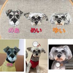 Portrait Embroidery, Hand Embroidery, Punch Needle, Westies, Schnauzer, Pet Portraits, Poodle, Journals, Sewing Patterns