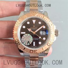 Replica Rolex Yacht-Master 116621 JF Best Edition Brown Dial on SS/RG Bracelet SA3135