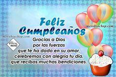 bendiciones feliz cumpleaños Happy Birthday Wishes Cards, Birthday Quotes For Him, Happy B Day, Pink, Amor, Christian Birthday Greetings, Happy Bday Wishes, Christian Pictures, Happy Birthday Greeting Cards