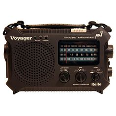 """This is the Kaito® Black Voyager. You might want to check out the article """"Shortwave Basics: How to listen and talk to the world"""" on the Prepper Ideas website.   http://www.prepperideas.com/shortwave-basics-how-to-listen-and-talk-to-the-world/#"""