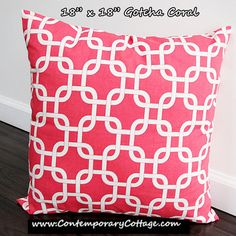 Set of TWO 18 x 18 Pillow Cover Gotcha by ContemporaryCottage, $15.00