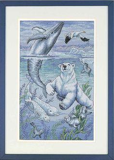 Schema punto croce Orso Bianco 1