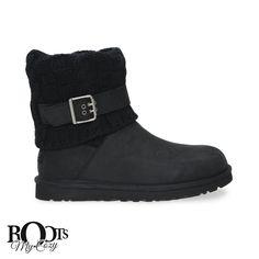 UGG CASSIDEE BLACK BOOTS - WOMEN'S
