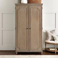 "Ballard design  Isabella Armoire 78H x 43 W x21 D 43 "" clearance under hanging bar 4 drawers  $1799"