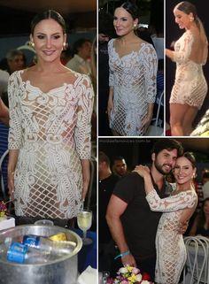 6cbff4833 Claudia Leitte e Carol Castro usaram vestidos iguais. O modelo é Patricia  Bonaldi (PatBo). O vestido branco, todo transparente, bordado e com costas  nuas, ...
