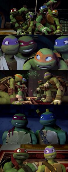 My turtle's adorable expressions. I especially love Donnie & Raph's at the end. XP
