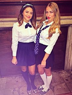 DIY Blair and Serena Gossip Girl Halloween costume