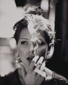 michelle williams can make even smoking look sexy.