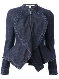 Givenchy Denim Peplum Jacket - - Farfetch.com