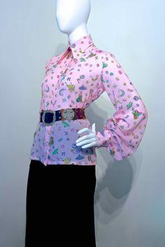 Vintage 1970s JEFF BANKS Smock Shirt Blouse by VicAndBertieVintage