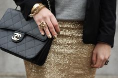 favorite fall trend METALLIC. LOVE the combination of the gilded gold and the heather grey.