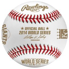 The official 2014 @MLB #WorldSeries baseball. @SFGiants - @Royals game 1 Tuesday night in Kansas City.