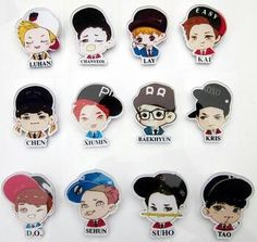 Exo stickers or patches. I want. Lol
