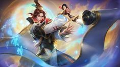 View an image titled 'Estes Art' in our Mobile Legends: Bang Bang art gallery featuring official character designs, concept art, and promo pictures. Game Character Design, Character Concept, Character Art, Mobile Legend Wallpaper, Hero Wallpaper, Couple Wallpaper, Monitor Lizard, Alucard, Bang Bang
