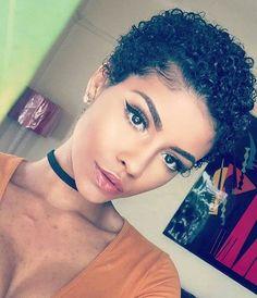 Image result for short natural hair ebony women