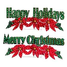 Gemmy Pre-Lit Merry Christmas Sign with Constant White ...