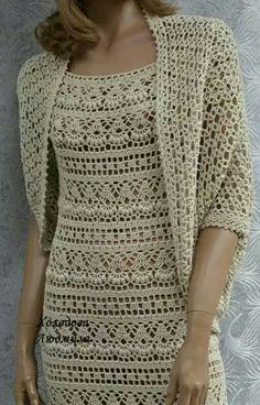 Black Crochet Dress, Crochet Skirts, Crochet Clothes, Crochet Cardigan Pattern, Crochet Blouse, Crochet Patterns, Cotton Crochet, Diy Crochet, Crochet Top