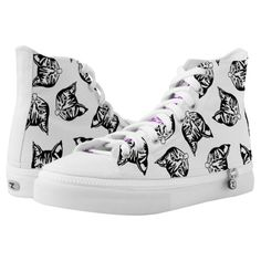 Shop Mollycat boots High-Top sneakers created by MOLLYCAT_Designs. Cat Shoes, Shoe Boots, Unique Boots, Converse Style, Black And White Style, Designer Boots, Custom Sneakers, High Tops, High Top Sneakers
