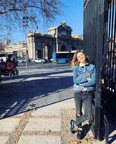 Have you ever seen me standing still? V Instagram, Mira Duma, European Tour, Miroslava Duma, Stand By Me, Style Inspiration, Nike, Denim, My Style