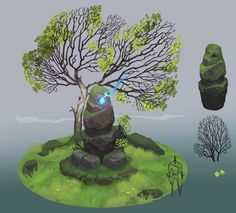 first test based on Stylized Asset Creation for Games by Kevin Griffith Game Design, Layout Design, Stone Game, Post Apocalyptic Art, Concept Art World, 3d Assets, You Are The World, Environment Design, Environmental Art