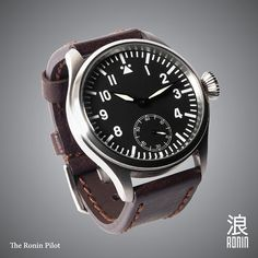 Original Ronin Pilot Watch  Domed sapphire crystal by RoninWatches, $265.00